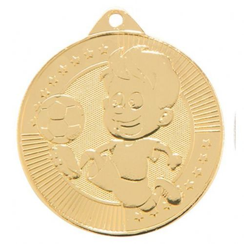 Little Champion Football Medal Gold 45mm